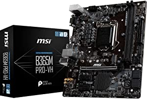 MSI ProSeries Intel B365 LGA 1151 Support 9th/8th Gen Intel Processors Gigabit LAN DDR4 USB/VGA/HDMI Micro ATX Motherboard (B365M PRO-VH)