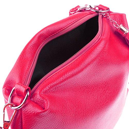 Estate Tracolla Tocco Borsa Modo Moda Rosa Messenger Magideal Nero Donne Di Morbido Tote T845vTq