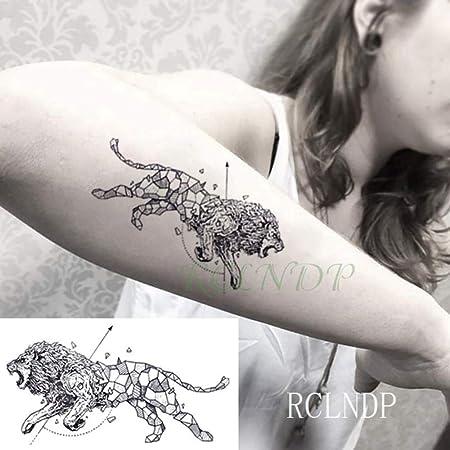 ljmljm 5 Piezas Pegatinas de Tatuaje a Prueba de Agua Lobo Panda ...