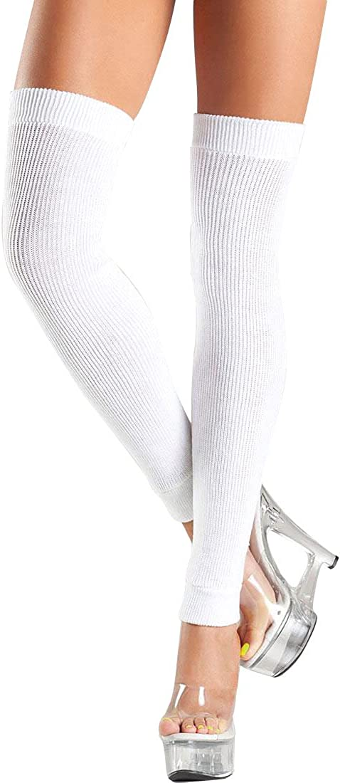 Be Wicked BW711W Womens White Thigh High Leg Warmers