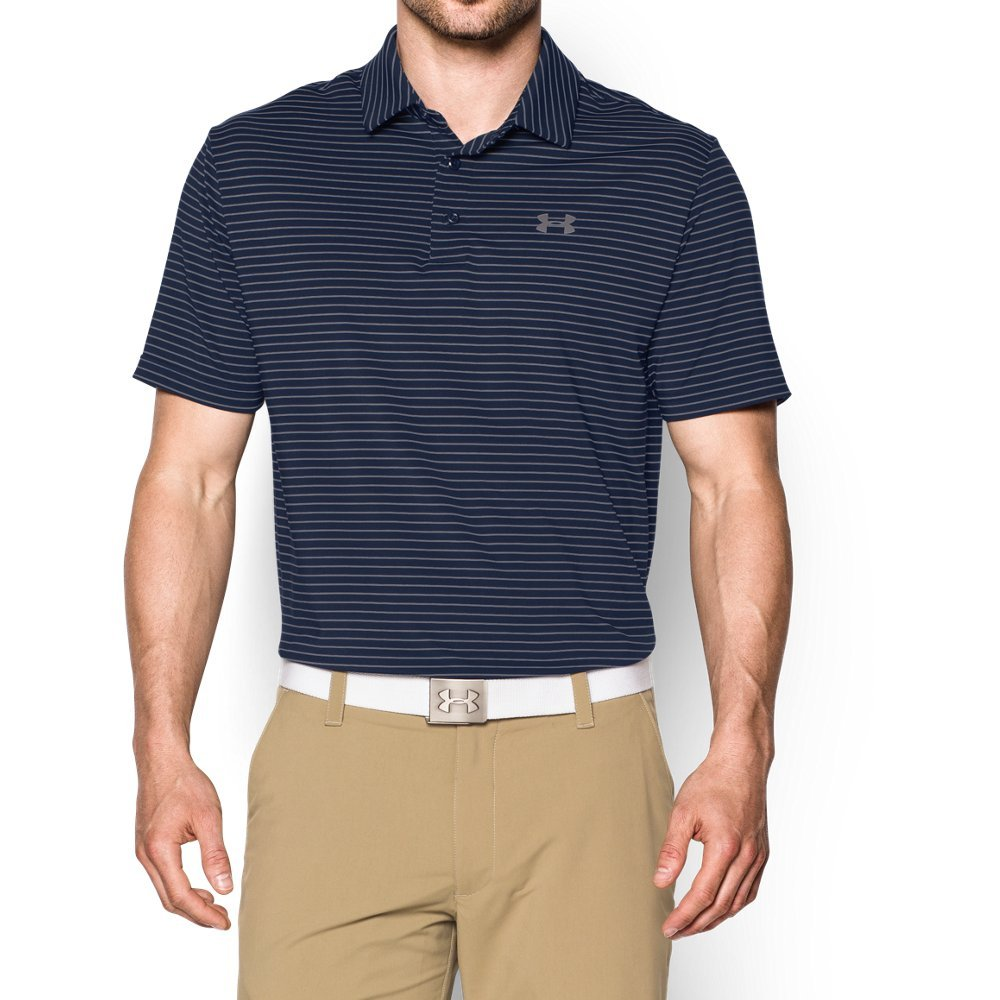 Under Armour Men's Playoff Polo, Academy (410)/Steel, Small