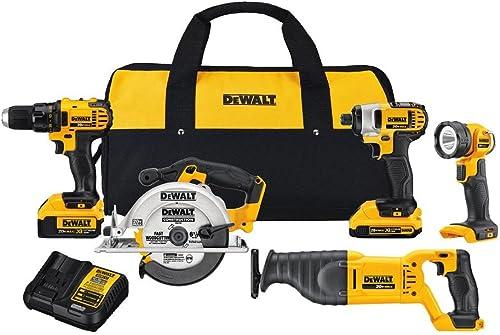 DEWALT 20V MAX Cordless Drill Combo Kit, 5-Tool DCK520D1M1
