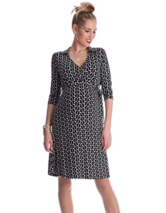 a7323a5de1b33 Seraphine Women's Geo Print Maternity Wrap Dress at Amazon Women's ...