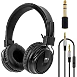 lotmusic Headphones Stereo Headset Foldable Super Bass Full Sized Over-Ear Earphones for PC Phone by Kmise