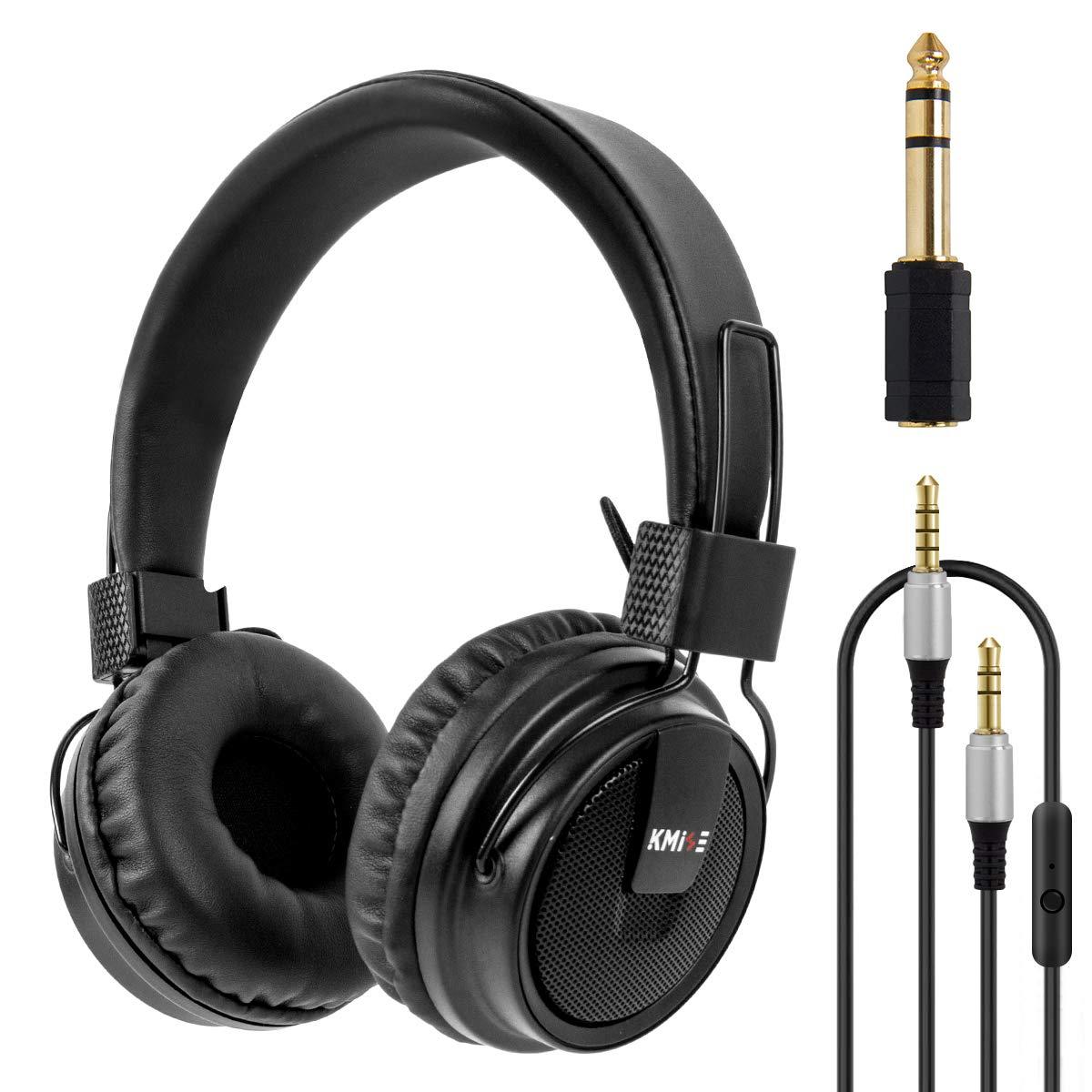 Headphones Stereo Headset Foldable Super Bass Full Sized Over-Ear Earphones for PC Phone by Kmise