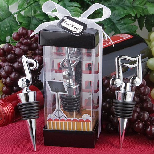 Music Bottle Stopper Wedding Favors