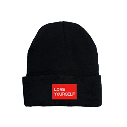 e086c3a2dd00a Amazon.com  Kpop BTS Love Yourself Hip Hop Caps Suga Jimin Beanie Knit  Winter Hats  Clothing