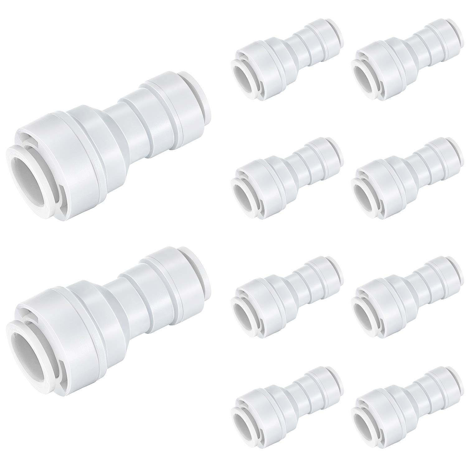 20 Pieces Quick Push to Connector Water Tube Fitting 1//4 Inch Tube OD x 3//8 Inch OD Reducing Straight Union Quick Release Pneumatic Connectors Air Line Fittings for Water Systems