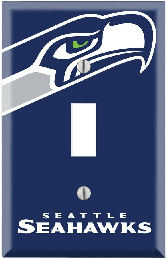 Single Toggle Wall Switch Cover Plate Decor Wallplate - Seahawks