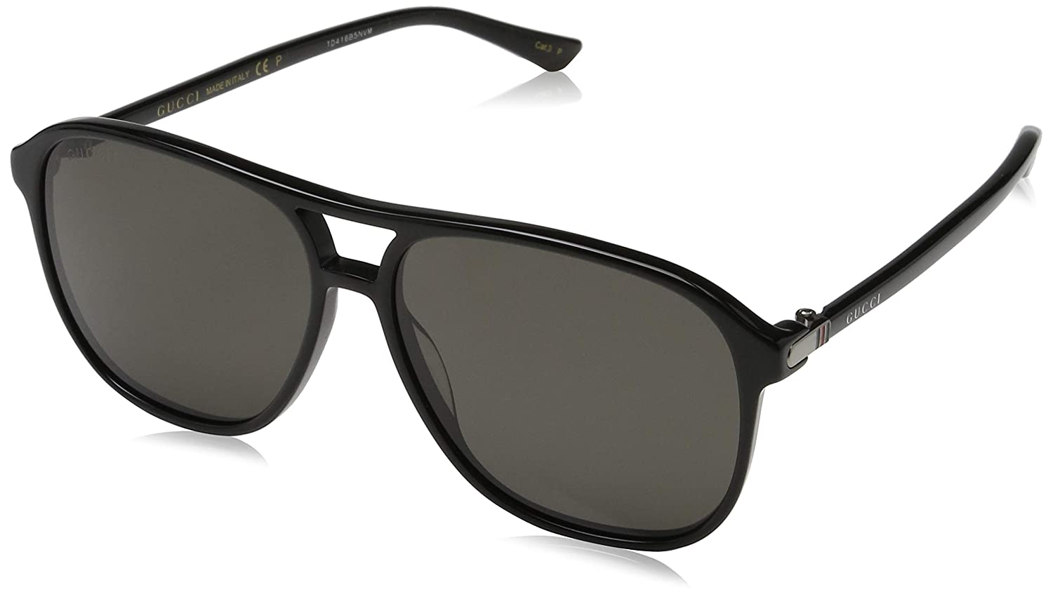 78b8bf5724 Amazon.com  Gucci GG0016S 006 Black 0016S Round Sunglasses Polarised Lens  Category 3 Size 5  Gucci  Clothing