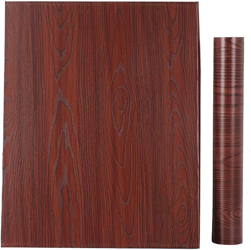 Amazon Com Glow4u Faux Red Mahogany Wood Grain Contact Paper Peel And Stick Wood Wallpaper For Kitchen Cabinets Table Counter Top Desk Door Furniture Walls 15 7x117 Inches Home Kitchen