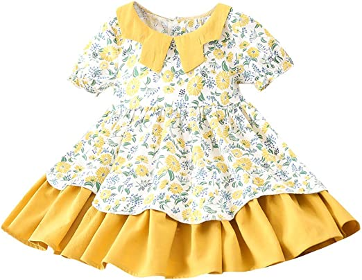 Baby Girl Full Sleeve Cotton Dress Frock Cloth Kids Outfit Top Designs 1-5 Years