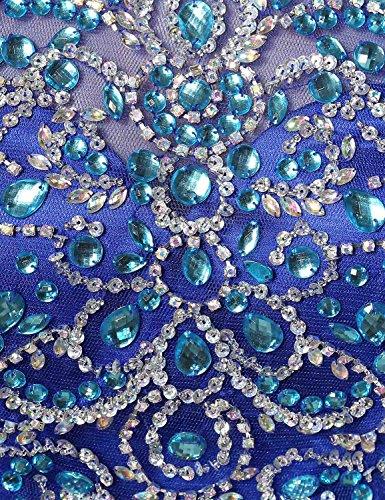 Belle Maison Robes De Mariée En Mousseline De Soie Juniors Soirée De Bal Licol Robes De Bal Bleu Lx206-royal