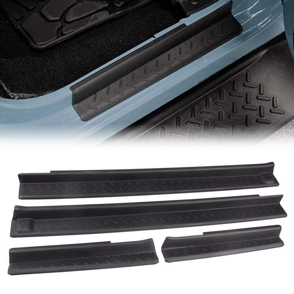 DQDZ - Placa para umbral de puerta delantera y trasera, color negro: Amazon.es: Coche y moto