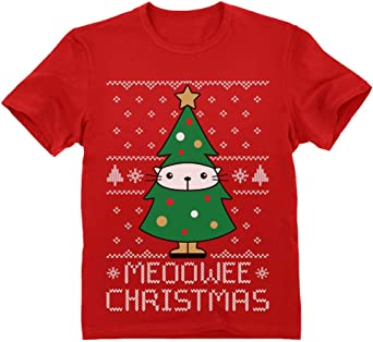 Green Turtle T-Shirts Camiseta para niños - - Meoowee Christmas - Jersey Feo de Navidad: Amazon.es: Ropa y accesorios