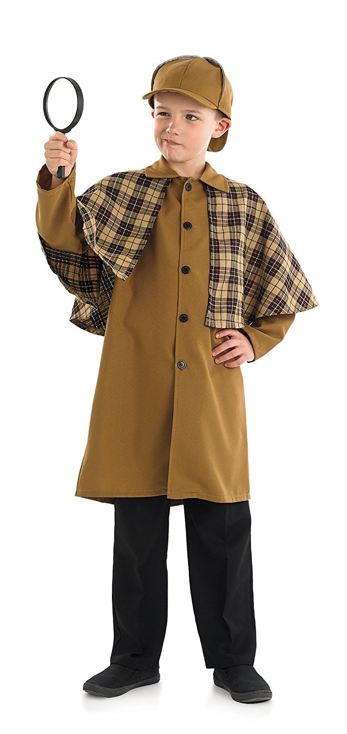 Steampunk Kids Costumes | Girl, Boy, Baby, Toddler Victorian Detective Boys Fancy Dress Sherlock Holmes Book Day Kid Childs Costume (6-8 years) by Fun Shack $64.57 AT vintagedancer.com