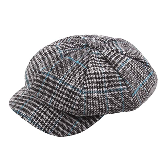 YanHoo Cappelli Cappello in Maglia di Lana Scozzese 2b0cc0c196b9