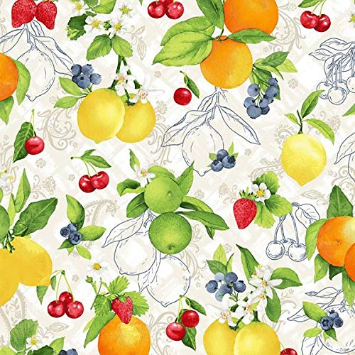 Ambrosia Fabric - Ambrosia Farm Natural Orchard Fabric 3555 from RJR Studio by The Yard