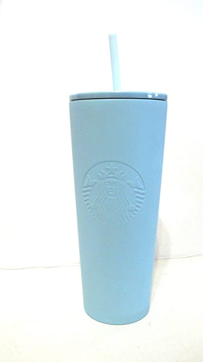 4c133259ad7 Starbucks Summer 2018 Matte Powder BlueStainless Steel cold cup tumbler 24oz