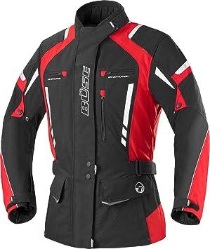 Büse Torino Pro – Chaqueta moto chaqueta chaqueta para mujer – negro/rojo