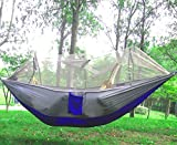 Mosquito Net Outdoor Hammock Feature: 1. Offer a comfortable relaxation choice for lounging in the sun or under the tree 2. Mesh roof protects you from annoying mosquitoes and bugs 3. Lightweight, yet hold as much as 200kg 4. Firm construction allows...