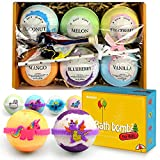 Bath Bombs for Kids with Surprised Toys Inside 6 Packs, Lush Kids Bath Bombs, Free a Birthday Balloon,Great Gifts for Girls & Boys, Natural Bubble Bath Fizzers,Kind to Sensitive Skin
