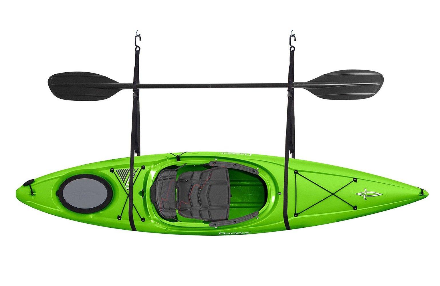 Kayak Hoist Strap Single Storage Garage Canoe Hoists 55 Lb Capacity