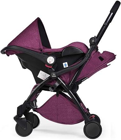 Opinión sobre DDPD Cochecito plegable automático, cesta tres en uno combinación recién nacido puede sentarse reclinable coche ligero para niños de 0-3 años
