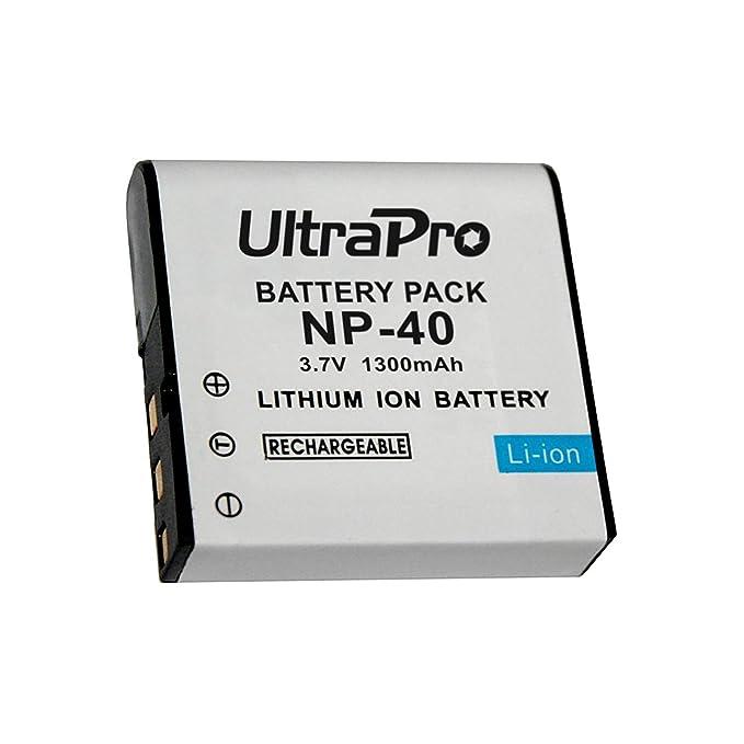 Amazon.com: 2-Pack NP-40 High-Capacity Baterías de reemplazo ...