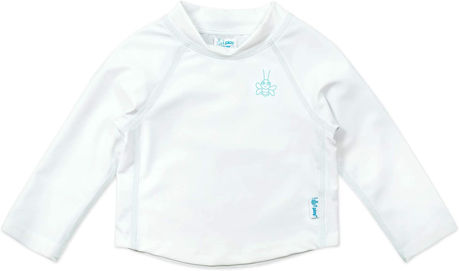 All-day UPF 50 sun protection/—wet or dry,White Classic,24 months Long Sleeve Rashguard Shirt i play