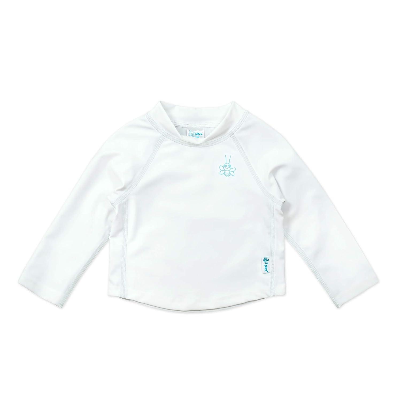 I-Play. Baby Long Sleeve Rashguard Shirt, White, 12 Months 770100