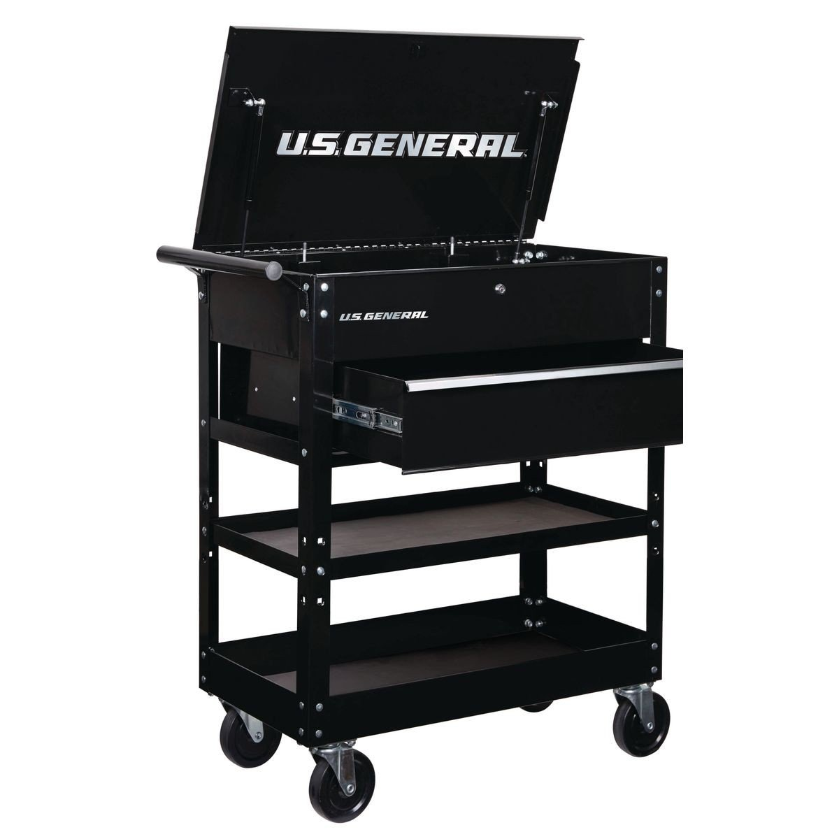 26 in. Deep Drawer Bulk Storage Tech Mechanics Tool Cart Cabinet