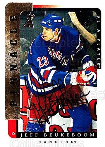 (CI) Jeff Beukeboom Hockey Card 1996-97 Be A Player Auto (base) 158 Jeff Beukeboom ()