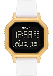 Nixon Womens Siren SS Digital Watch Gold White 36mm