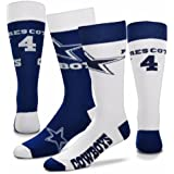 7a15de392 For Bare Feet Dallas Cowboys Big Top Mismatch Men's Crew Socks - Dak  Prescott #4