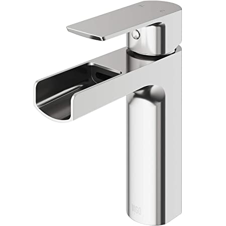 Vigo Vg01042 Bn Ileana Solid Brass Single Handle Bathroom Sink Faucet With Diy Single Hole Installation And Premium 7 Layer Plated Brushed Nickel Finish by Vigo