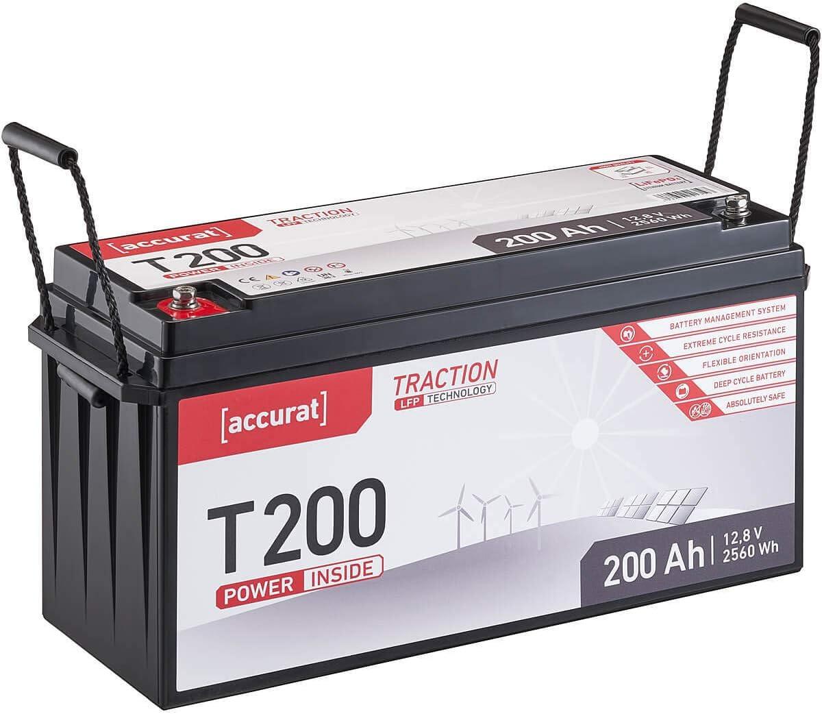 Accurat Traction 12V 12Ah LiFePO4 Lithium-Eisenphosphat Versorgungs-Batterie T12 LFP