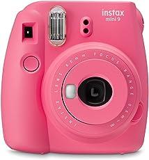 Fujifilm Cámara Instantánea Instax Mini 9, Color Rosa Flamingo