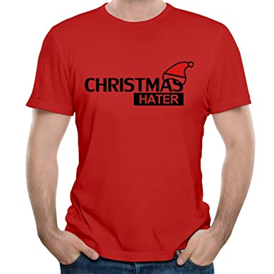 Christmas Hater.Christmas Hater Men S Short Sleeve T Shirt Red 3x Amazon Co