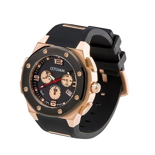 OTUMM Reloj para Hombre de con Correa en Silicona 7197: Amazon.es: Relojes