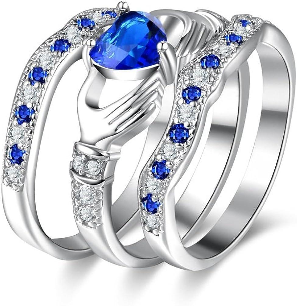 Irish Claddagh Celtic 925 Silver Care Heart Forever Bridal Wedding 2019 Rin E1N4