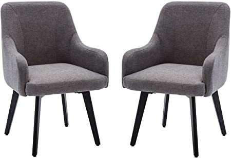 Contemporary Mordern Accent Chairs,Upholstered Arm Chairs,Living Room  Kitchen Office Furniture Set of 2