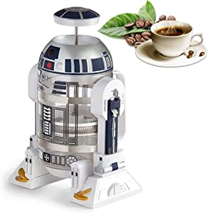 Hand Coffee Maker, Robot Home Mini Stainless Steel Filter Coffee Pot, Coffee Press With Stainless Steel Filter, Reusable Stainless Steel Vacuum Jug