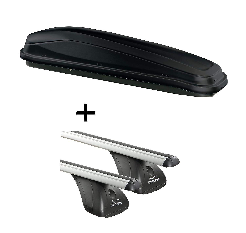 Barre portatutto per Citroen C4 Gran Picasso 5 Porte dal 2013 in Poi vdp Skibox JUEASY300 300 300 Litri Nero