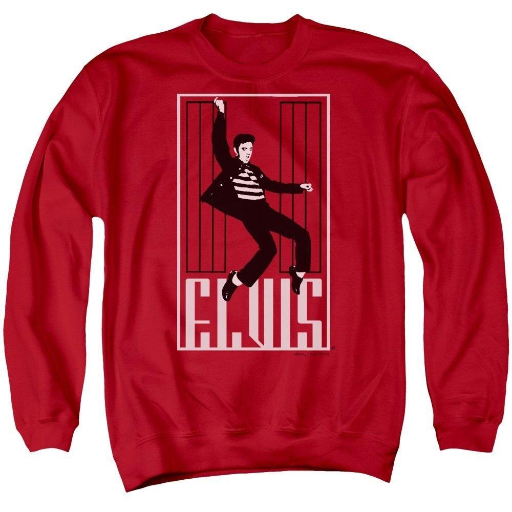 Elvis One Jailhouse Adult Crewneck Sweatshirt
