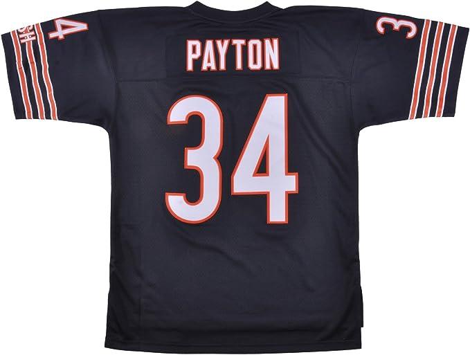 Mitchell & Ness Walter Payton Chicago Bears Dark Navy Throwback Jersey