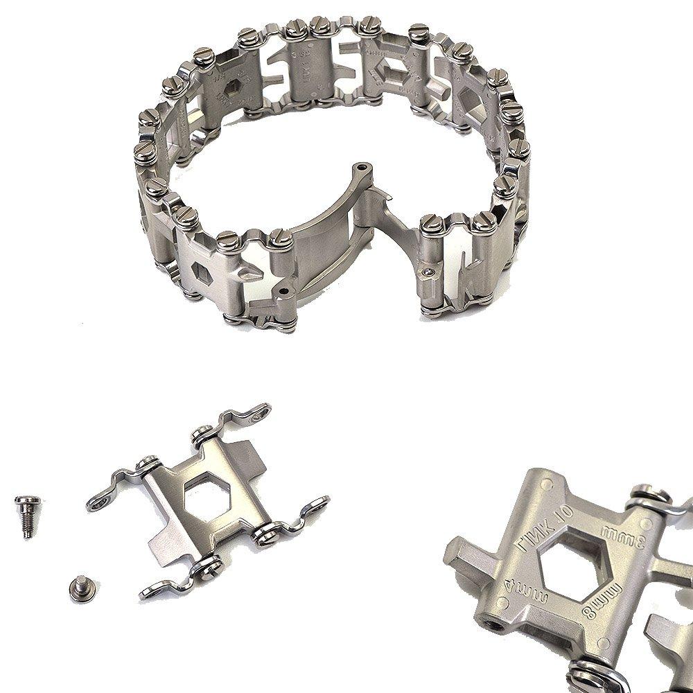 OLSUS Premium and Durable Wear-Resistant Travel Stainless Steel Versatile Wristband Bracelet Type Screwdriver Tool