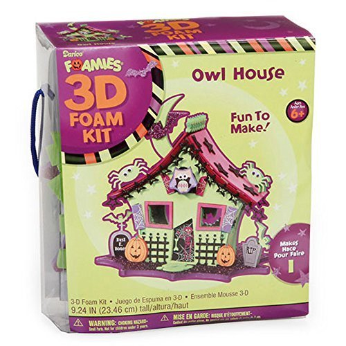 Foamies 3D Foam Kit Halloween Haunted House with Owl - Craft Kit for Kids ()
