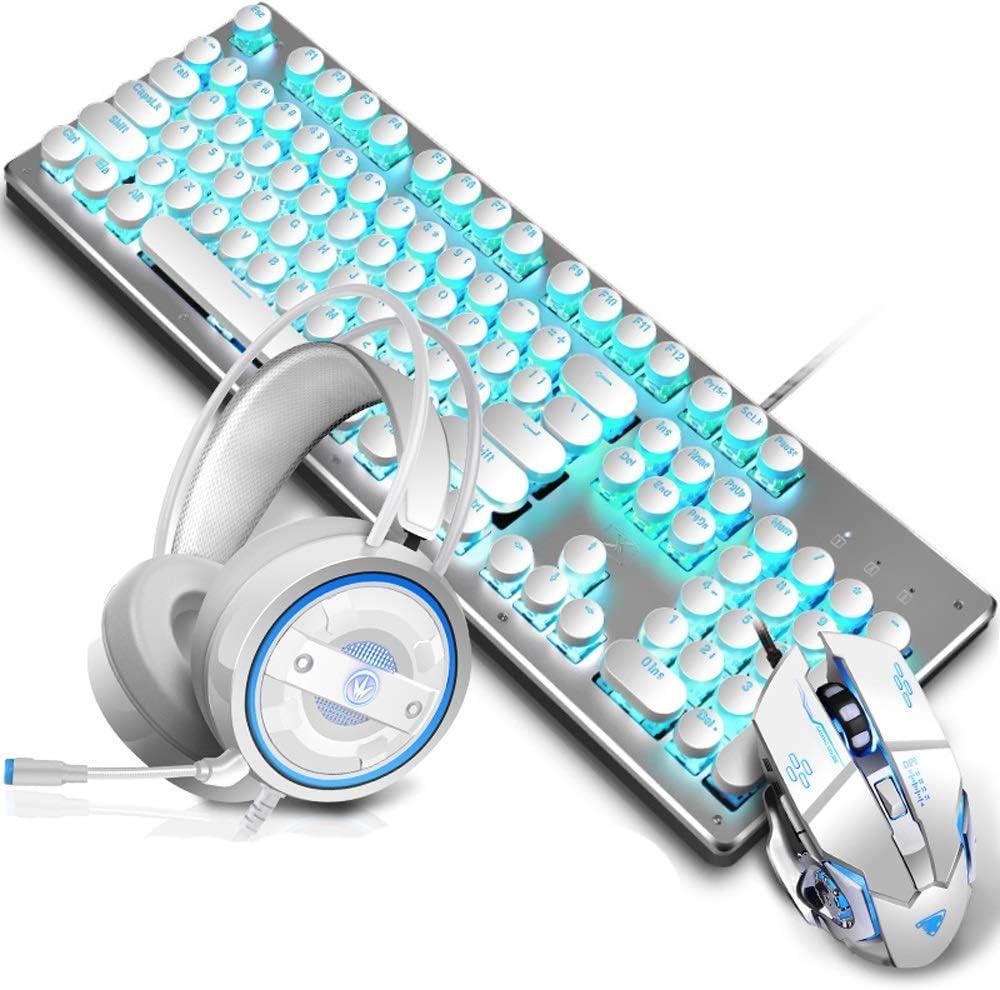 Elkeyko Gaming Keyboard Mouse Headset Juego Combinado ...