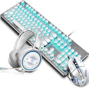 Elkeyko Gaming Keyboard Mouse Headset Juego Combinado de Tres ...